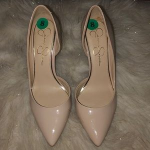 Jessica Simpson nude heels size 8
